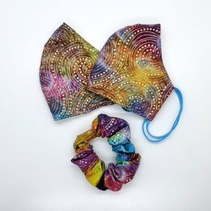 Set Batik Adult Face Masks & Scrunchie
